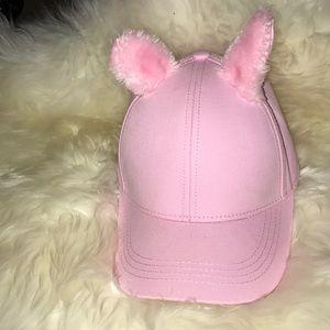Pink ear baseball cap!